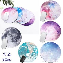 Non Slip Space Round Mouse Pad Mice Mat For Laptop Notebook