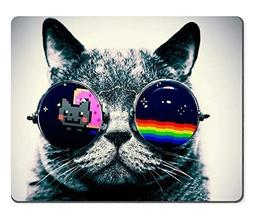 Nyan Cat Glasses Funny Kitten Mouse Pads Customized Made to
