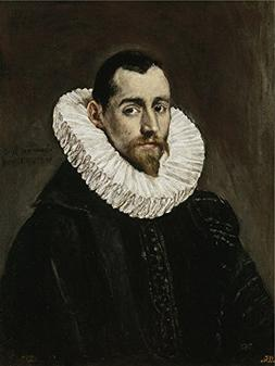 Oil Painting 'El Greco A Nobleman  1600 05 ' Printing On Pol