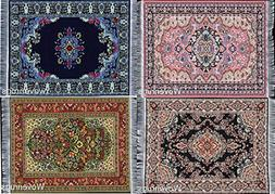 Set of 4 Beautiful Oriental Woven Rug Mouse Pads - Oriental
