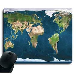 Apottwal Original Blue Earth World Map Mouse Pad