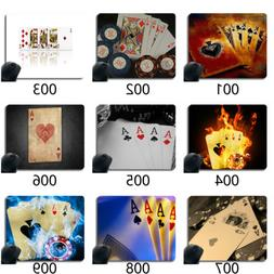 Personalized Design Mouse Pad,Poker Art Mouse Pad Stitched E