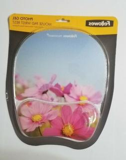 Fellowes Photo Gel Mouse Pad With Wrist Rest Flowers Floral