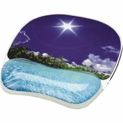 Fellowes Photo Gel Mouse Pad With Wrist Support 9202601