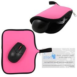 Shells® Hot Pink Color A3 Neoprene Soft Magic Mouse Bag Mul