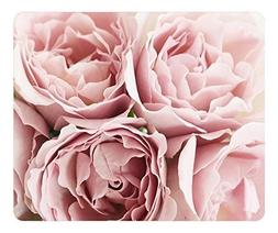 Mouse Pad Pink Roses 36230 Oblong Shaped Mouse Mat Design Na