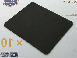 Plain Black Mouse Pad Lot - Pack of 10 High Quality 22 x 18c