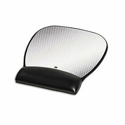 3M Precise Leatherette Mouse Pad W/Wrist Rest, Nonskid Base,