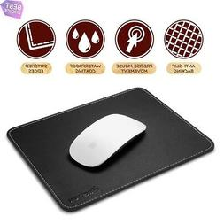Premium Leather Mouse Pad with Waterproof Coating, Non Slip