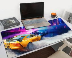 Racing Car Gaming Mouse Pad Large Size Desk Keyboard Mat Sof