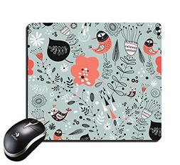 Rectangular Mouse Pad Illustrations of artistic flowers and