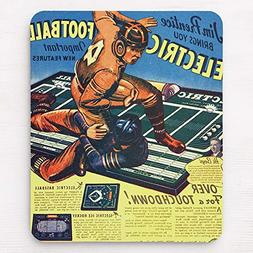 Retro Vintage Toy 'Electric Football Game' Mouse Pad 11.8×9