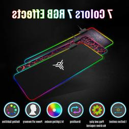 RGB Colorful Extended Mouse Pad LED Large Gaming Keyboard Pa