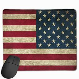 Rubber Mouse Pad United States of America Flag Desktop Anti