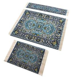 Set of Woven Rug Mouse Pad + Coaster + Bookmark - Oriental S