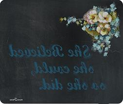 She Believed She Could So She Did Thick Mousepad by Atomic M
