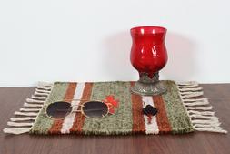 Small Rug South Western Kitchen Mat Mouse Pad Hand Woven Fla
