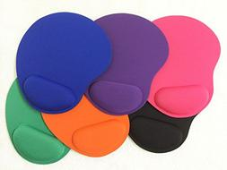 PEPPERLONELY Brand 6 Pack Soft Gel Comfort Wrist Mouse Pads