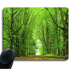 Beautiful Spring Natural Scene Green Tree Mouse Pad