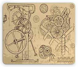 Ambesonne Steampunk Mouse Pad, Retro Hand-Drawn Infographic