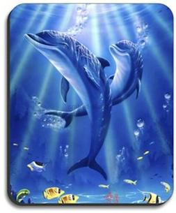Sunlit Dolphins Mouse Pad - By Art Plates