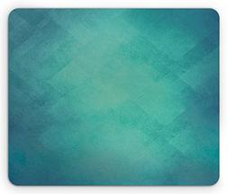 Ambesonne Teal Mouse Pad, Retro Inspired Grunge Style Abstra
