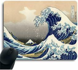 The Great Wave Painting Mouse Pad Art Print Decorative Mouse