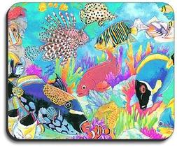 Tropical Coral Reef Sea Life Laptop Computer Mouse Pad