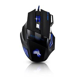 JUDYelc Tyrannosaurus X3 Gaming Mouse USB wired with Seven C