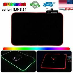 US STOCK RGB Colorful LED Lighting Gaming Keyboard Mouse Pad