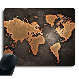 Apottwal Vintage Black World Map Antique Decorate Mouse pad
