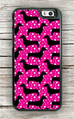 VINTAGE DACHSHUND PINK CASE FOR iPHONE 7 OR 7 PLUS -jer4Z
