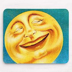 Vintage Man in The Moon Happy Moon Mouse Pad 11.8×9.8 inche