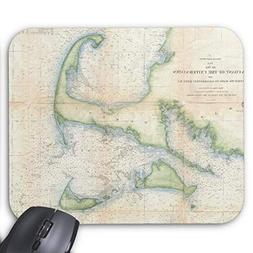 Vintage Map of Cape Cod  Mouse Pad 11.8×9.8 inches Game Mou