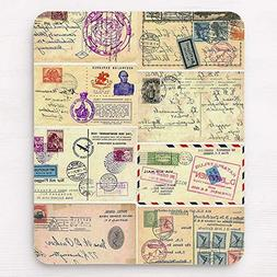 Vintage Travel Postcards Mouse Pad 11.8×9.8 inches Mousepad