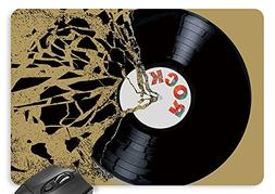 Vinyl Record Broken Mouse Pad 11.8×9.8 inches