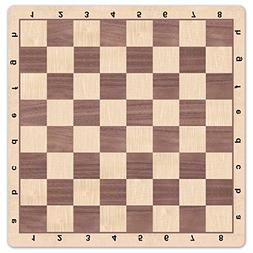 WE Games Walnut & Maple Wood Grain Mousepad Chessboard, 20 i