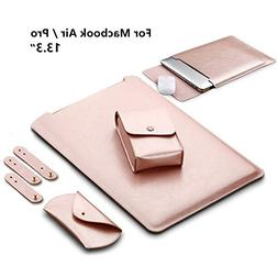 LAPOND Waterproof Leather Sleeve Case For 13.3 Inches MacBoo