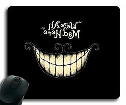 Mouse Pads We're All Mad Here Design Regular Computer Mouse