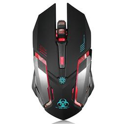 Wireless Gaming Mouse, VEGCOO C8 Silent Click Wireless Recha