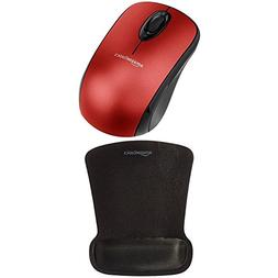 AmazonBasics Wireless Mouse with Nano Receiver and Gel Mouse