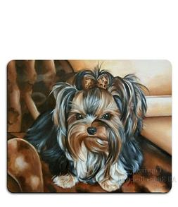 yorkie mouse pad, desk accessories, yorkshire terrier gift,
